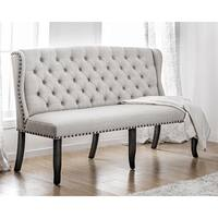 Furniture of America Telara Tufted Wingback 3-seater Loveseat
