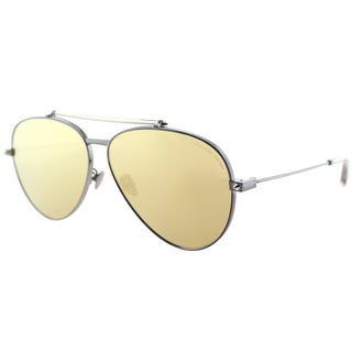 Alexander McQueen Men's Ruthenium Metal Aviator Sunglasses
