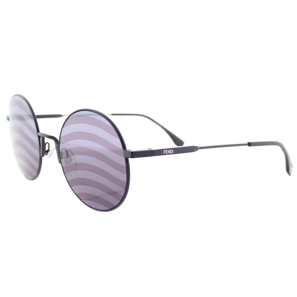 aeb263fae98f Fendi FF 0248 B3V Waves Violet Metal Round Sunglasses with Violet Waves Lens