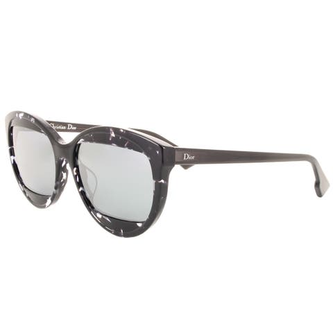 Dior DiorMania1S AB8 Havana Grey Plastic Silvertone Mirror Lens Round Sunglasses