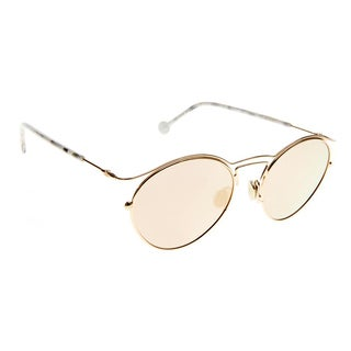 Dior Women's DiorOrigins1 DDB Gold Copper Metal Round Sunglasses with Rose Gold Mirror Lenses