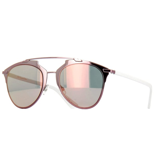 279ccaf7eb8 Dior Dior Reflected S M2Q 0J Pink White Metal Aviator Sunglasses with Rose  Gold