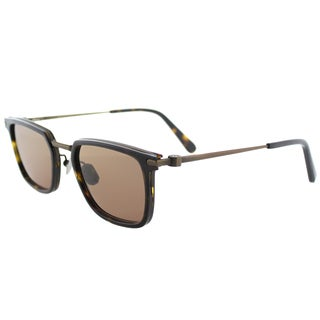 Brioni BR 0010S 003 Casual Luxury Havana Bronze Plastic Square Sunglasses with Brown Photochromatic Lens