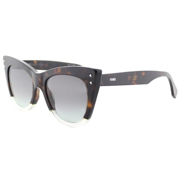 Womens Ff 0238/S Ib Sunglasses, Havana Green, 52 Fendi