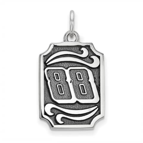 Versil Nascar Necklace Stainless Steel Bali Type Vertical Pendant - White