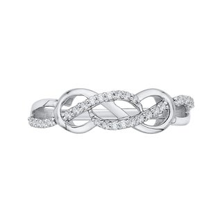 14K White Gold 1/5ct TDW Diamond Infinity Ring (J-K, I1-I2)