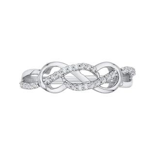 14K White Gold 1/5ct TDW Diamond Infinity Ring (J-K, I1-I2)