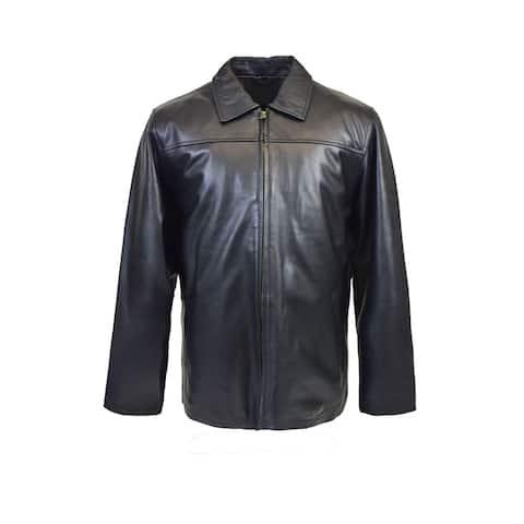 Men's Classic Lambskin Straight Bottom Jacket