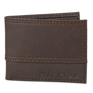 Dickies Men's Genuine Leather Topstitched Bifold Wallet