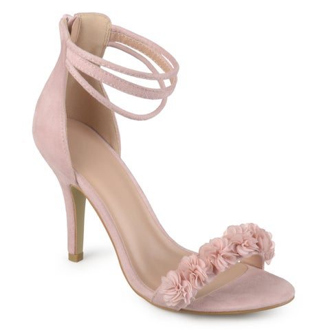 Journee Collection Women's 'Eloise' Ankle Strap Flower High Heels