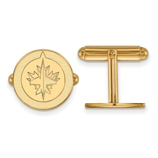 Sterling Silver With Gold Plating NHL LogoArt Winnipeg Jets Cuff Links