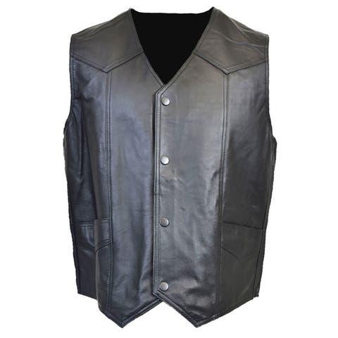 Men's Leather Vest