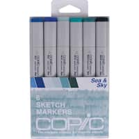Copic Sketch Markers 6/Pkg-Sea & Sky
