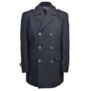 Men's Classic Double Breasted Wool Peacoat