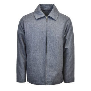 Men's Wool Blend Zip Jacket