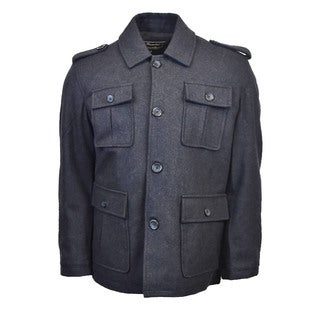 Men's Military Buttoned Jacket