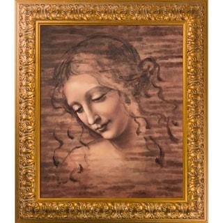 Da Vinci 'Female Head (La Scapigliata)' Hand Painted Oil Reproduction