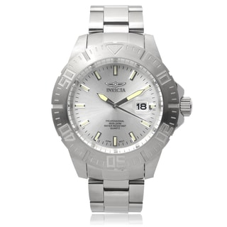 Invicta Men's 14048 'Pro Divers' Blemished Stainless Steel Silvertone Dial Link Bracelet Watch