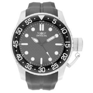 Invicta Men's 17510 'Pro Diver' Blemished Stainless Steel Carbon Fiber Dial Silicone Strap Watch