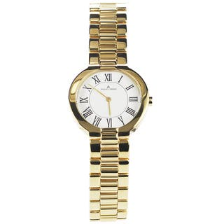 Jacques Lemans Women's 1-1069H 'Siena' Blemished Goldtone Stainless Steel White Roman Numeral Dial Link Bracelet Watch|https://ak1.ostkcdn.com/images/products/15293013/P21761015.jpg?impolicy=medium