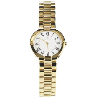 Jacques Lemans Women's 1-1069H 'Siena' Blemished Goldtone Stainless Steel White Roman Numeral Dial Link Bracelet Watch