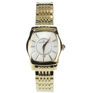 Jacques Lemans Women's 1-1357H Blemished Goldtone Stainless Steel Silvertone Dial Link Bracelet Watch