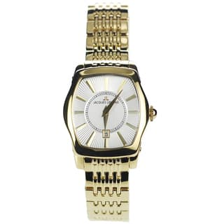 Jacques Lemans Women's 1-1357H Blemished Goldtone Stainless Steel Silvertone Dial Link Bracelet Watch|https://ak1.ostkcdn.com/images/products/15293054/P21761020.jpg?impolicy=medium