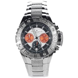 Jacques Lemans Men's 1-1377H Blemished Stainless Steel Multicolor Chronograph Dial Link Bracelet Watch|https://ak1.ostkcdn.com/images/products/15293057/P21761021.jpg?impolicy=medium