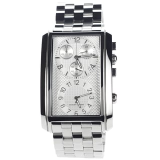 Jacques Lemans Men's 1-1392F Blemished Stainless Steel Dual Time Chronograph Dial Link Bracelet Watch