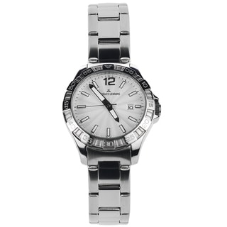 Jacques Lemans Women's 1-1393B Blemished Stainless Steel Silvertone Dial Link Bracelet Watch