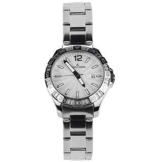 Jacques Lemans Women's 1-1393B Blemished Stainless Steel Silvertone Dial Link Bracelet Watch|https://ak1.ostkcdn.com/images/products/15293066/P21761023.jpg?impolicy=medium