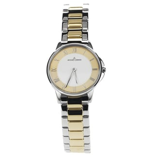Jacques Lemans Women's 1-1555F Blemished Two Tone Stainless Steel Roman Numeral Dial Link Bracelet Watch