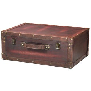 Vintiquewise Cherry Wooden Vintage-style Suitcase with Leather Trim|https://ak1.ostkcdn.com/images/products/15293098/P21760996.jpg?impolicy=medium
