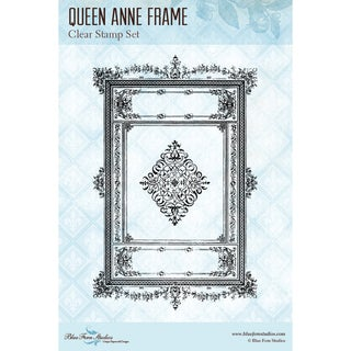 "Blue Fern Studios Clear Stamps 4""X6""-Queen Anne Frame"
