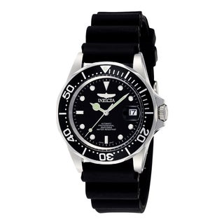 Invicta Men's 'Pro Diver' 9110 Blemished Stainless Steel Black Dial Strap Watch