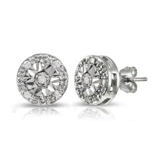 DB Designs Sterling Silver 1/10ct Diamond Miracle-Set Stud Earrings