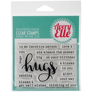"Avery Elle Clear Stamp Set 4""X3""-Simply Said Hugs"