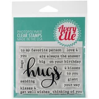 "Avery Elle Clear Stamp Set 4""X3""-Simply Said Hugs