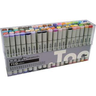 Copic Sketch Markers 72pc Set-|https://ak1.ostkcdn.com/images/products/15293478/P21761239.jpg?impolicy=medium