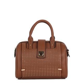 Nikky Hadley Brown Boston Satchel Handbag