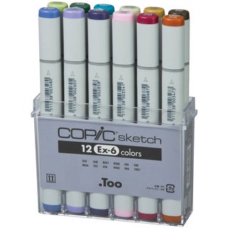 Copic Sketch Markers 12pc Set-Ex-6
