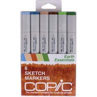 Copic Sketch Markers 6/Pkg-Earth Essentials
