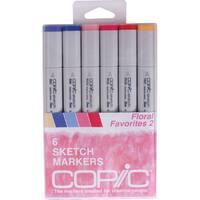 Copic Sketch Markers 6/Pkg-Floral Favorites 2