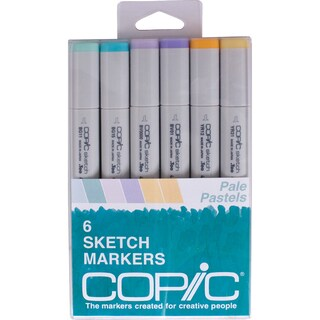 Copic Sketch Markers 6/Pkg-Pale Pastels