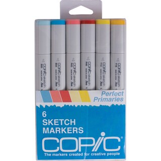 Copic Sketch Markers 6/Pkg-Perfect Primaries
