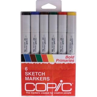 Copic Sketch Markers 6/Pkg-Bold Primaries