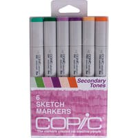 Copic Sketch Markers 6/Pkg-Secondary Tones