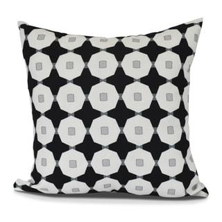 Button Up, Geometric Print Outdoor Pillow