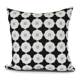 Button Up, Geometric Print Outdoor Pillow (3 options available)