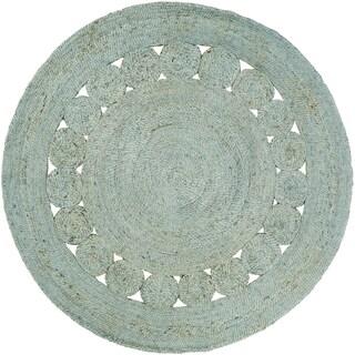 Hand-Woven Adelia Jute Rug (5' Round)